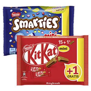 Kitkat, Lion oder Smarties Minis + 1 gratis jeder 267/288/230-g-Beutel