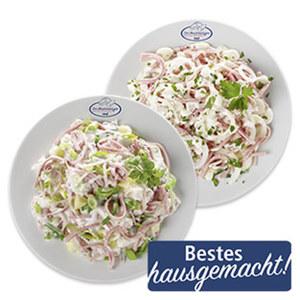 Schicht- oder Schinken-Lauch-Salat je 100 g