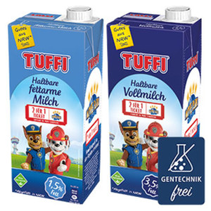 Tuffi H-Milch 1,5/3,5 % Fett, jede 1-Liter-Packung