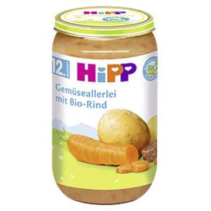 Hipp Menü ab 12 Monaten, versch. Sorten,  jedes 250-g-Glas