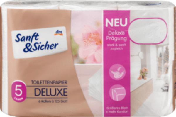 Sanft&Sicher Toilettenpapier Deluxe 5lg 6x125 Bl.