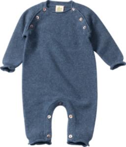 ALANA Baby-Overall, Gr. 62, in Bio-Baumwolle und Schurwolle, blau, für Mädchen und Jungen