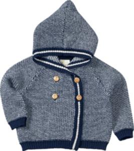 ALANA Baby-Jacke, Gr. 68, in Bio-Schurwolle, blau, weiß, für Mädchen und Jungen