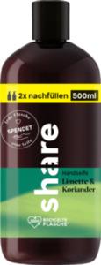 share Flüssigseife Nachfüllflasche Limette & Koriander