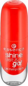 essence cosmetics Nagellack shine last & go! gel nail polish orange 15