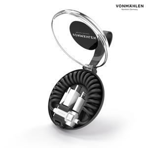 Vonmählen allroundo® All-in-One Ladekabel in Schwarz, 0,7 m, USB A, Micro-USB B, 2.0, 480 Mbit/s, Schwarz