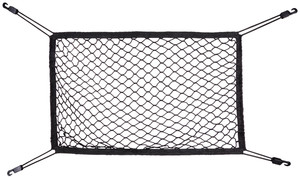 Walser Kofferraumnetz 50 x 80 cm mit Haken schwarz, 16503