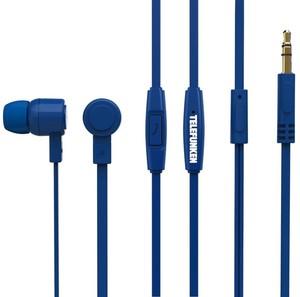 Telefunken KH2003 Kopfhörer mit Mikrofon in Blau