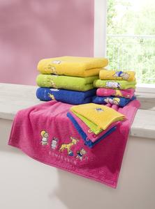 Schiesser Frottier-Handtuch für Kinder 40 x 70 cm, Farbe gelb