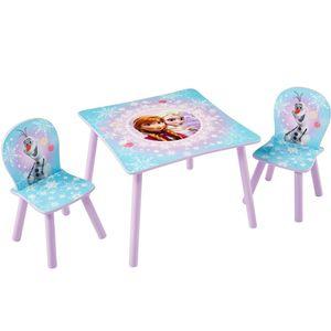 Disney 3-tlg. Tisch- und Stuhl-Set Frozen 63 x 63 x 45 cm WORL234027