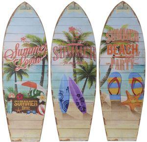 Wanddeko - Surfbrett - aus Holz - 60 x 20 cm - 1 Stück