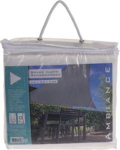 Sonnensegel - aus Polyester - 3,5 x 3,5 x 3,5 m - weiß