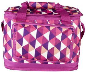 Kühltasche - Dreiecke - aus Textil - 15 l - 32 x 20 x 24 cm