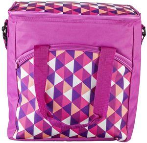 Kühltasche - Dreiecke - aus Textil - 30 l - 35 x 25 x 37 cm
