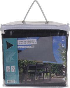 Sonnensegel - aus Polyester - 3,5 x 3,5 x 3,5 m - grau