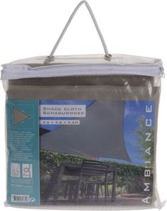 Sonnensegel - aus Polyester - 3,5 x 3,5 x 3,5 m - creme