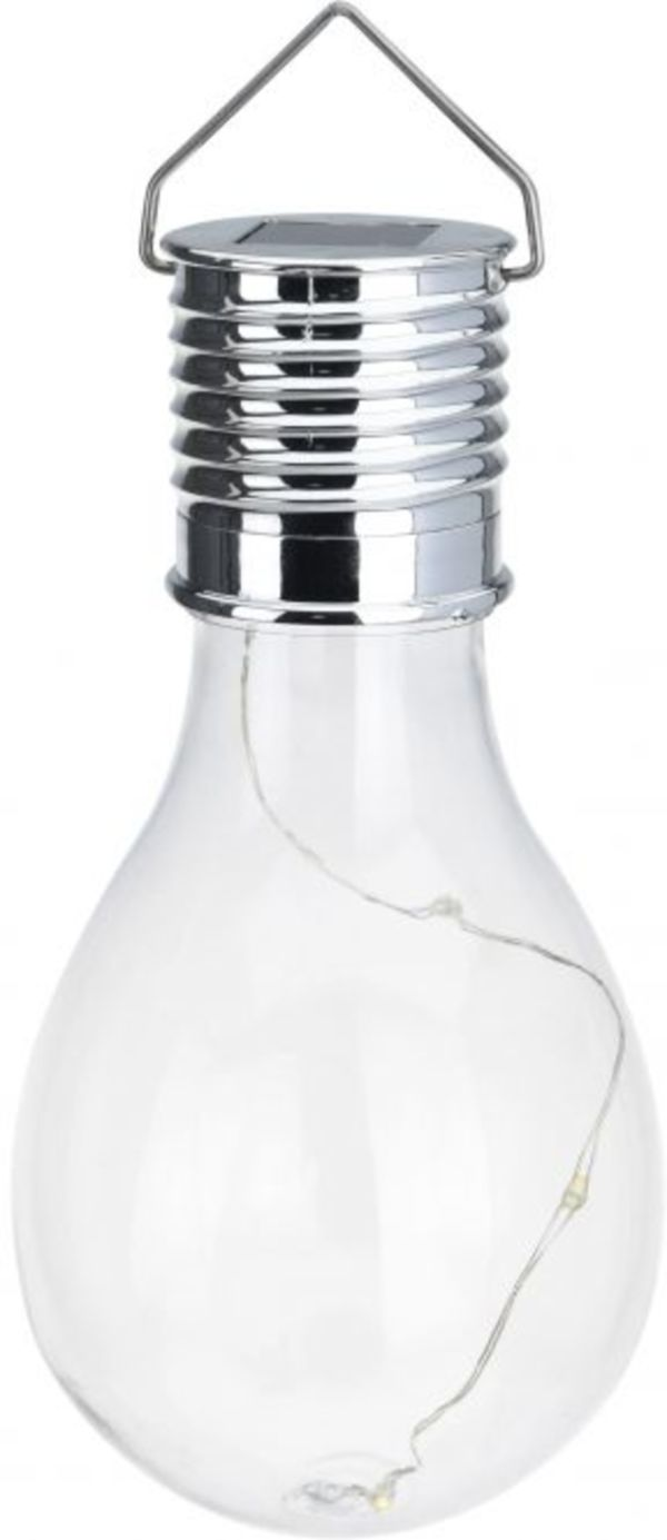 LED-Solarlampe - aus Kunststoff - 7,5 x 15 cm