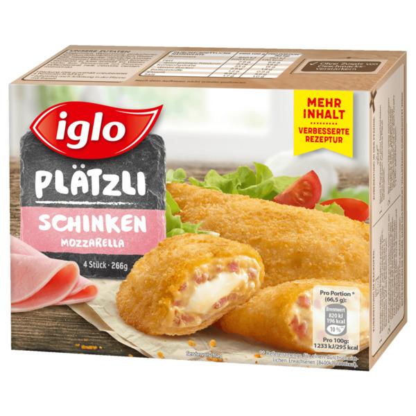 iglo Plätzli Käse-Schinken 266g