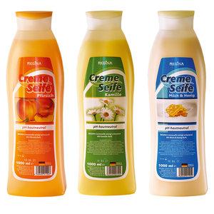 Cremeseife Nachfüllflasche - sortiert - 1000 ml
