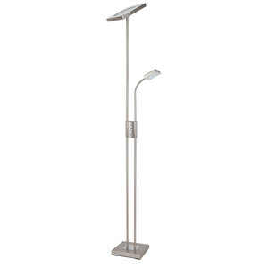 LAMPURA LED-Deckenfluter LOREDANA - Nickel matt - dimmbar - 180 cm hoch