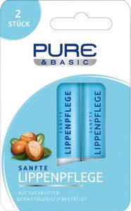 Pure & Basic Lippenpflegestift Doppelpack 9,6 g