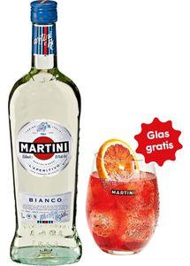 Martini Bianco + Glas, 0,75 L