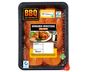BBQ Hähnchen-Ministeaks mariniert*