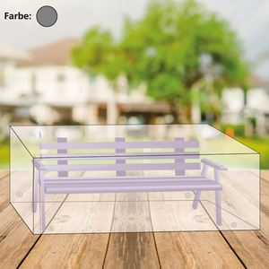 Abdeckhaube für 3-Sitzer Gartenbank 170x100x70cm Anthrazit