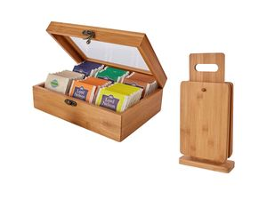 ERNESTO® Schneidebrett 4er/ Teebox