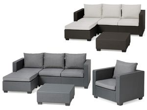 Allibert Lounge Set Malibu/Salta mit Sunbrella Kissen