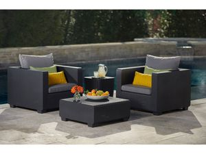Allibert Balkon Lounge Set Salta mit Sunbrella Kissen