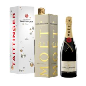 Champagner Moet & Chandon Brut Impérial oder Taittinger Brut Réserve