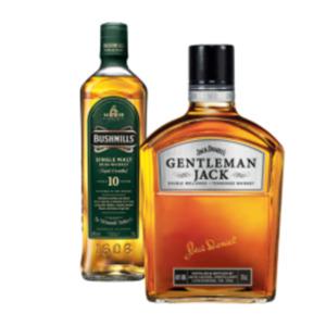 Jack Daniels Gentleman Jack Tennessee Whiskey oder Bushmills Irish Whiskey