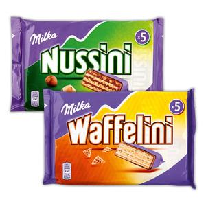 Milka Nussini / Waffelini / Peanut & Caramel