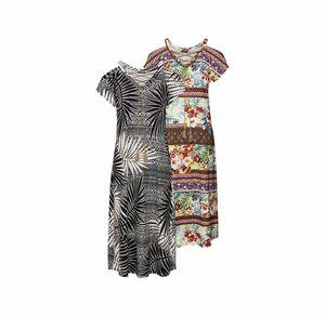 Laura Torelli Classic Damen-Kleid mit Schnürung am Ausschnitt