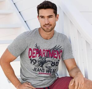 Reward classic Herren-T-Shirt in Melange-Optik