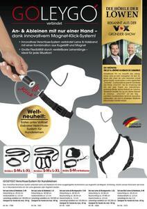 GoLeyGo Hundeleine & Halsband S schwarz