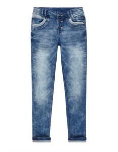 Mädchen Acid Washed Skinny Fit Jeans