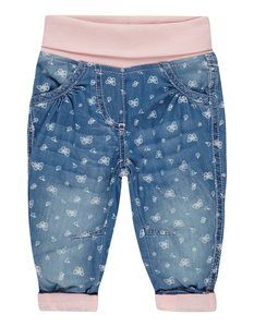 Newborn Thermo Jeans mit Schmetterlings-Muster