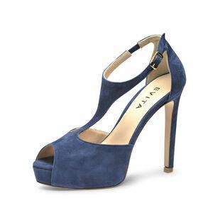 Evita Damen Sandalette BEPPINA, blau, 40