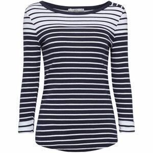 edc by Esprit Damen Shirt mit Ringeln, navy, L