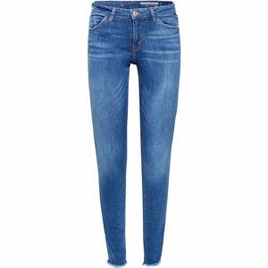 edc by Esprit Damen Jeans im Used Look, Medium Skinny Fit, blue medium, W29/L30
