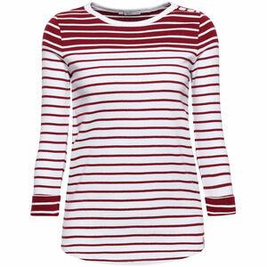edc by Esprit Damen Shirt mit Ringeln, dunkelrot, S