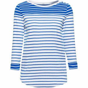 edc by Esprit Damen Shirt mit Ringeln, blau, L