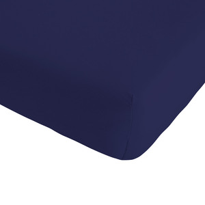 Single-Jersey-Spannbettlaken Quality (120x200, marineblau)