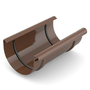 Dachrinnenverbinder gerade 100 mm aus PVC mit Gummidichtung