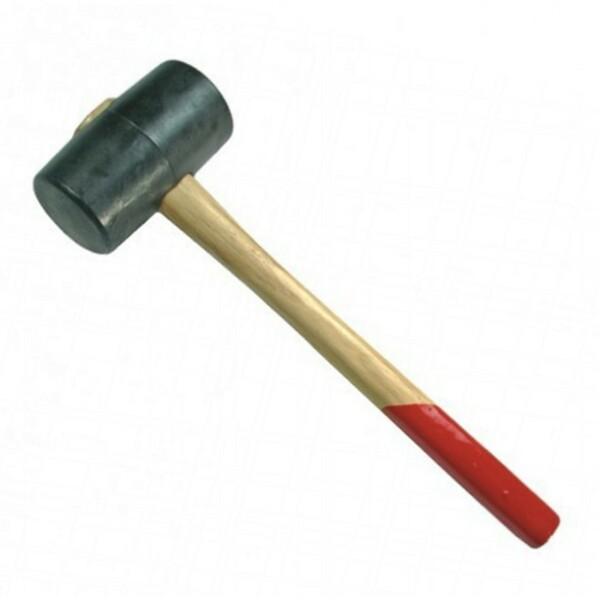 Gummi Hammer 500g 65mm Holzstiel Gummihammer Schonhammer Fliesenhammer