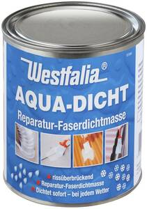 Aqua Dicht - transparente Abdichtmasse, faserverstärkt, 1 L Dose Westfalia