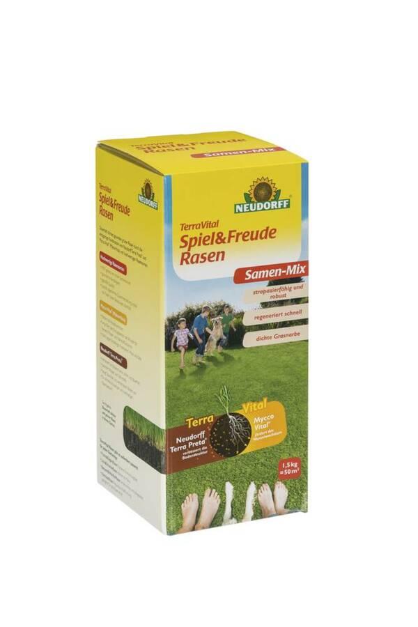 TerraVital Spiel&Freude Rasen Samen Mix- verschiedene Größen Neudorff