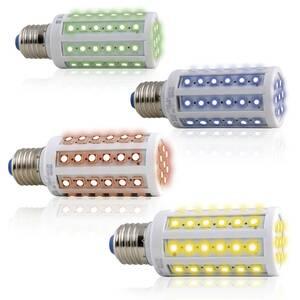 LED Leuchtmittel E27 Kolbenform inverschiedenen Farben Heitronic